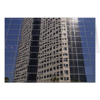 Sucess Business Skyscraper Shiny Window Art Greeting Card