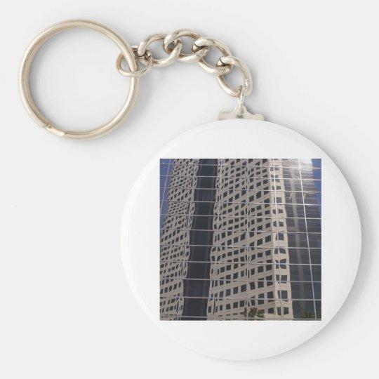 Sucess Business Skyscraper Shiny Window Art Keychain