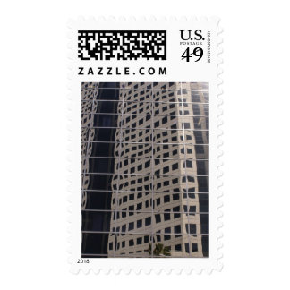 Sucess Business Skyscraper Shiny Window Art Postage