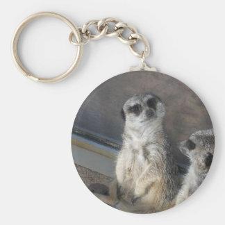 Such a Sweet Meerkat! Basic Round Button Keychain