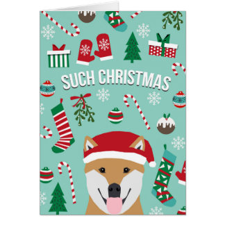 Shiba Inu Christmas Cards - Invitations, Greeting & Photo Cards ...