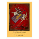 Suchard Chocolat Children with Ribbons Business Card Template