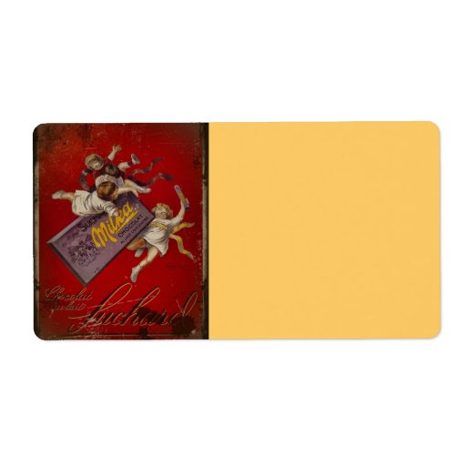 Suchard Chocolat Children with Ribbons Shipping Label