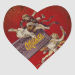 Suchard Chocolat Children with Ribbons Heart Stickers