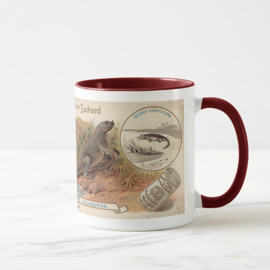 Suchard Chocolat Iguanodon Dinosaur Antique Card Mug