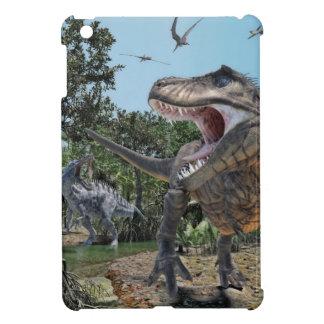 Suchomimus and Tyrannosaurus Rex Confrontation Case For The iPad Mini