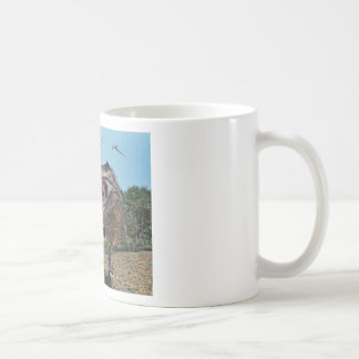 Suchomimus and Tyrannosaurus Rex Confrontation Coffee Mug