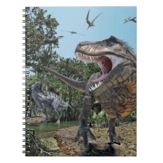 Suchomimus and Tyrannosaurus Rex Confrontation Notebook