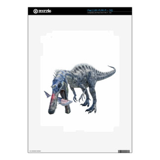 Suchomimus Dinosaur Eating a Shark Decals For The iPad 2