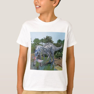 Suchomimus Dinosaur Eating a Shark in a Swamp T-Shirt