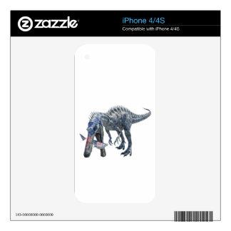 Suchomimus Dinosaur Eating a Shark iPhone 4 Skin