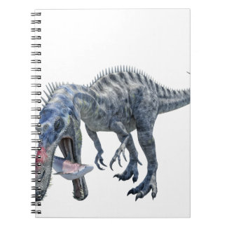 Suchomimus Dinosaur Eating a Shark Notebook