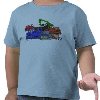 ¿Suciedad conseguida? Camiseta del niño