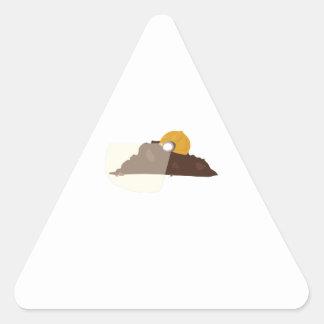 Suciedad de la construcción pegatina triangular