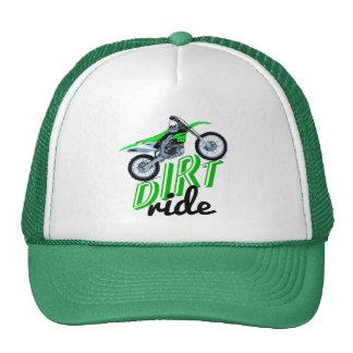 Suciedad que compite con la bici gorros bordados