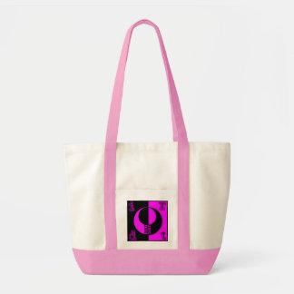 Suciedad - tote negro rosado bolsa tela impulso