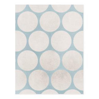Sucio blanco azul de los círculos enormes postales