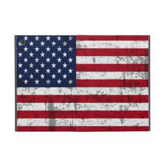 Sucio de la bandera americana apenado iPad mini fundas