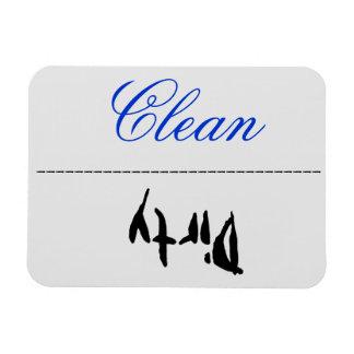 Sucio limpio del imán del lavaplatos