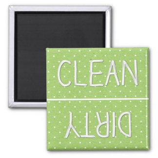 Sucio limpio del papel verde del lunar imán de frigorífico