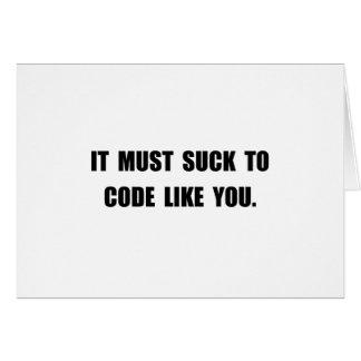 Suck Code Card