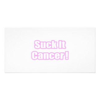 Suck It Cancer (Pink) Photo Card
