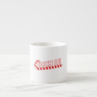 Suck It Candy Cane Espresso Cup