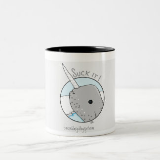 """Suck It"" Narwhal Mug"