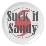 Suck it Sandy Hurricane Design Plate