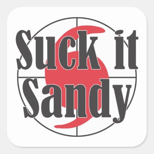 Suck it Sandy Hurricane Design Stickers