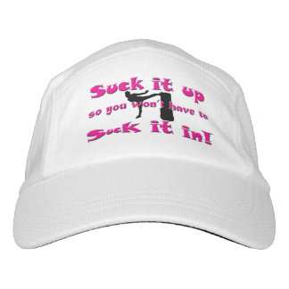 Suck it up …  Suck it in!  Lady Kickboxer Hat