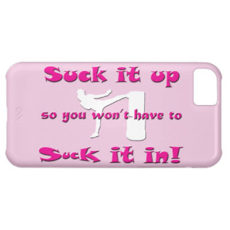 Suck it up … Suck it in! white Lady Kickboxer Case For iPhone 5C