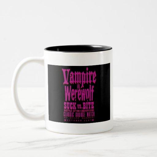 Suck vs Bite – Vampire vs Werewolf Coffee Mug
