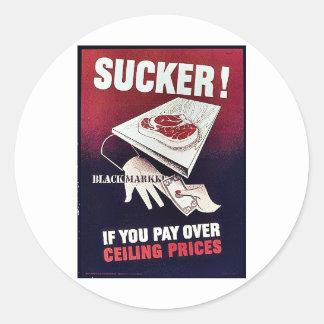 Sucker! Black Markket Round Sticker