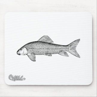 Sucker Fish Art Mouse Pad