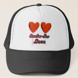 sucker for love trucker hat