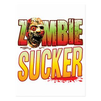 Sucker Zombie Head Postcard