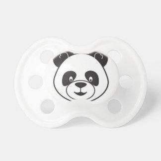 Sucks of black and white panda pacifier