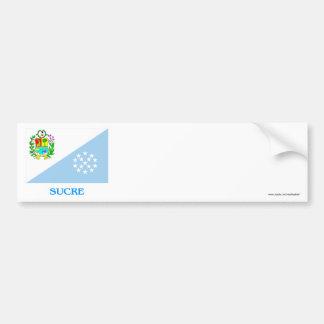 Sucre Flag with Name Car Bumper Sticker