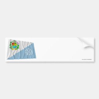 Sucre Waving Flag Car Bumper Sticker