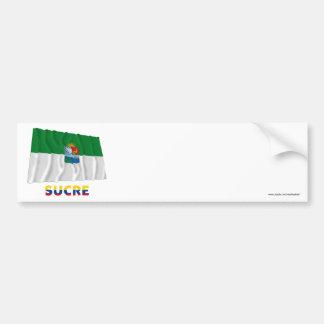 Sucre Waving Flag with Name Car Bumper Sticker