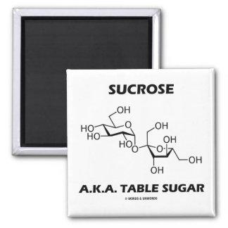 Sucrose A.K.A. Table Sugar (Chemical Molecule) 2 Inch Square Magnet
