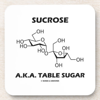Sucrose Table Sugar Chemical Molecule Chemistry Beverage Coaster