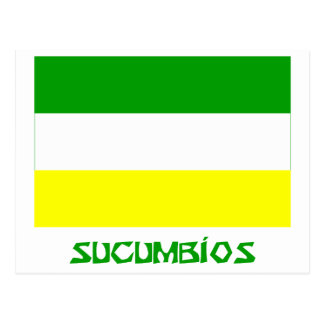 Sucumbíos flag with Name Postcard