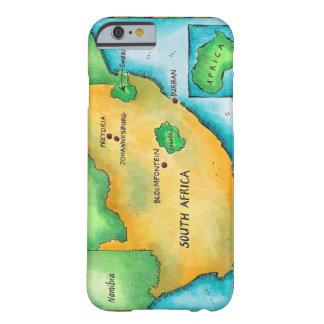 Sud de l'Afrique du de la carta Funda De iPhone 6 Barely There
