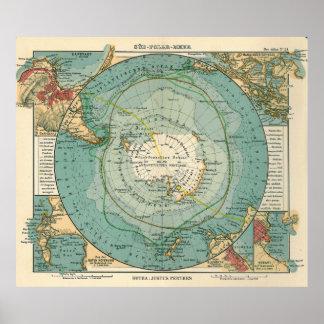 Sud Polar Meer - Justus Perthes Poster