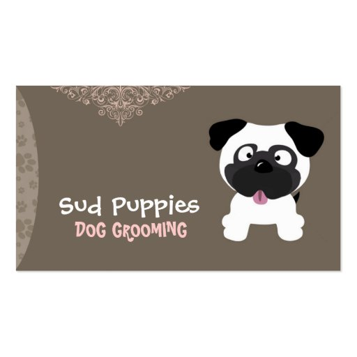 Sud puppies dog grooming business card zazzle for Pet grooming business cards
