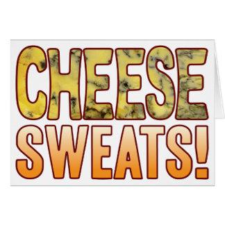 Suda el queso verde tarjeta de felicitación