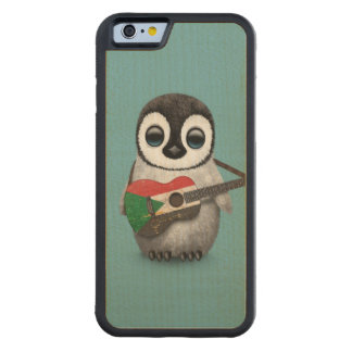 sudaBaby Penguin Playing Sudanese Flag Guitar Blue Carved® Maple iPhone 6 Bumper Case