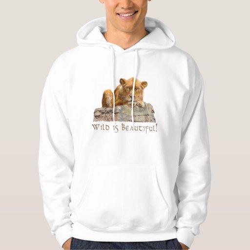 Sudadera con capucha africana de la fauna del gato